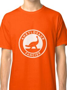 Ankylosaur Fancier (White on Dark) Classic T-Shirt