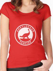 Ankylosaur Fancier (White on Dark) Women's Fitted Scoop T-Shirt