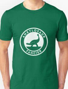 Ankylosaur Fancier (White on Dark) Unisex T-Shirt