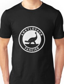 Ankylosaur Fancier (White on Dark) T-Shirt
