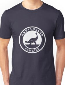 Ankylosaur Fancier (White on Dark) Unisex T-Shirt
