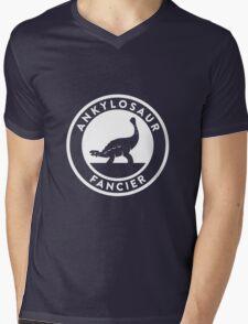 Ankylosaur Fancier (White on Dark) Mens V-Neck T-Shirt