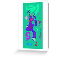 Glass Transparent Rainwater Cell Phone Window Greeting Card