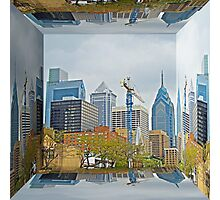 Philadelphia Skyline - Mirror Box Photographic Print