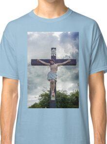 large crucifix in a graveyard Classic T-Shirt