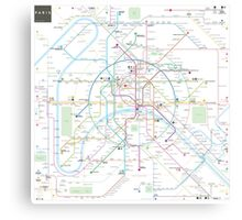 Paris metro map Canvas Print
