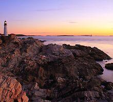 Portland Head Lighthouse Seascape by Roupen  Baker