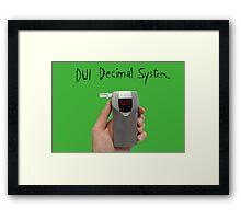 DUI Decimal System Framed Print