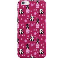 Cute Geisha and Panda Pattern iPhone Case/Skin