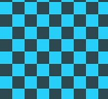 Checkered Blue and Black Pattern by SaradaBoru