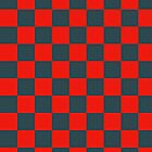 Checkered Red and Black Pattern by SaradaBoru