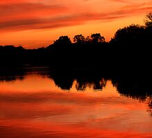 Langold Lake Sunset October 2012 by skid