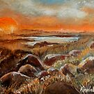 Sunrise Over Salt Marsh by Cal Brown