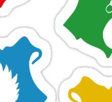 Hogwarts Crest & symbols (pattern) Sticker