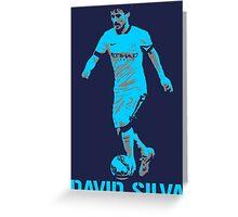 David Silva Manchester City Greeting Card