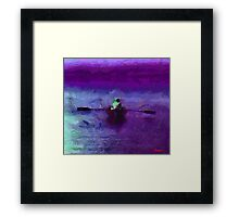 The Misterious Boat Framed Print