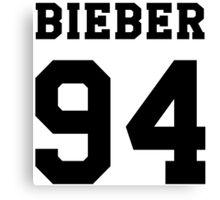 # Bieber 94 - Black Canvas Print