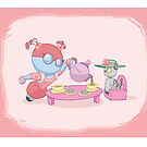Robot Kids: Tea Time by Jeff Pina