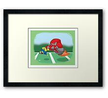 Robot Kids: Football Framed Print