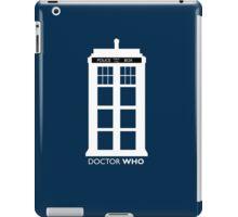 WHITE TARDIS iPad Case/Skin