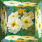 Old Fashioned Yellow Rose - Mirror Box by MotherNature