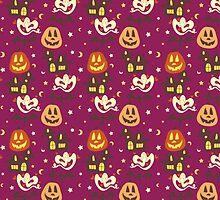 Colorful Halloween Pattern by SaradaBoru