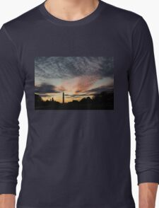 Mother Nature Painted the Sky Over Washington, DC Spectacular Long Sleeve T-Shirt