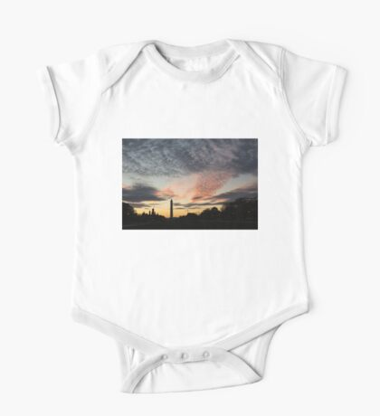 Mother Nature Painted the Sky Over Washington, DC Spectacular One Piece - Short Sleeve