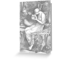 Psyche Opening the Golden Box Greeting Card