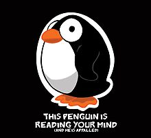 Telepathic Penguin: iPhone Case by jeffpina78