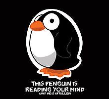 Telepathic Penguin: iPhone Case by jeffpina78