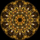 Gold Pattern Kaleidoscope 02 by fantasytripp