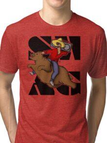 Kanye .. on a flying bear? Tri-blend T-Shirt