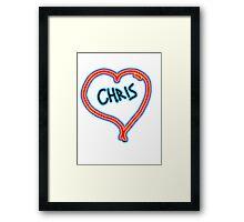 i love Chris heart  Framed Print