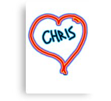 i love Chris heart  Canvas Print