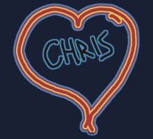 i love Chris heart  Kids Clothes