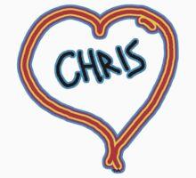 i love Chris heart  Kids Tee