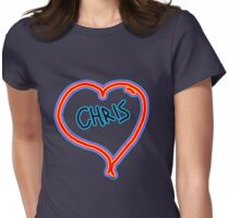 i love Chris heart  Womens Fitted T-Shirt