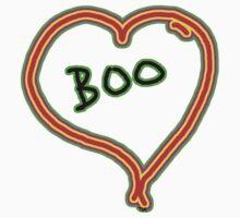 i love boo heart  One Piece - Short Sleeve
