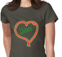 i love boo heart  Womens Fitted T-Shirt