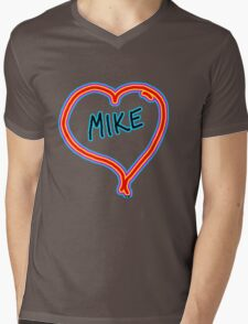 i love mike heart Mens V-Neck T-Shirt