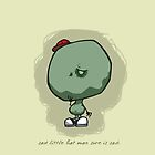 Sad Little Hat Man: iPhone Case by jeffpina78