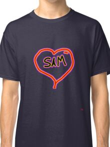 i love SAM heart  Classic T-Shirt