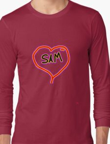 i love SAM heart  Long Sleeve T-Shirt