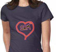 i love SAM heart  Womens Fitted T-Shirt