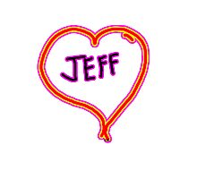 i love Jeff heart  Photographic Print