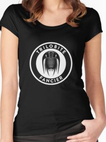 Trilobite Fancier (white on dark) Women's Fitted Scoop T-Shirt