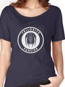 Trilobite Fancier (white on dark) Women's Relaxed Fit T-Shirt