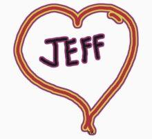 i love Jeff heart  One Piece - Short Sleeve