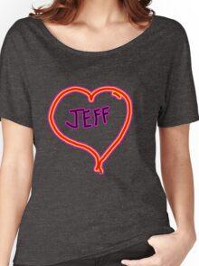 i love Jeff heart  Women's Relaxed Fit T-Shirt